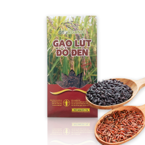 Gạo lứt đỏ đen hữu cơ QTOrganic 1kg