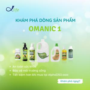 Chào mừng các dòng sản phẩm hữu cơ OMANIC 1 có mặt tại website MĐT ALPHADSO.ASIA