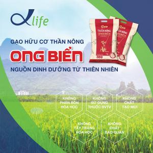 Gạo hữu cơ Thần Nông Ong Biển tác dụng vô giá cho sức khỏe