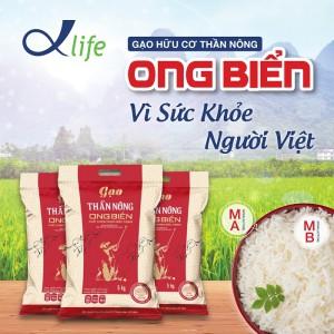 Gạo hữu cơ Thần Nông Ong Biển - Vì sức khỏe người Việt