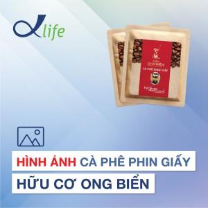 2. Hình ảnh Cà phê phin giấy hữu cơ Ong Biển